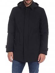 [관부가세포함][에르노 라미나르] Overcoat in black with hood (PI107UL 11121 9300)