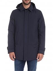 [관부가세포함][에르노 라미나르] Overcoat in blue with hood (PI107UL 11121 9201)