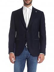 [관부가세포함][루이지 비앙키 만토바] Blue 자켓 with lapel pin (2301 92024/6)