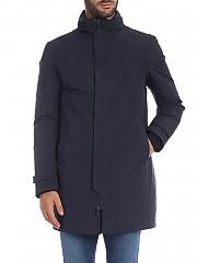 [관부가세포함][에르노 라미나르] Coat in blue technical fabric (PI109UL 11121 9201)