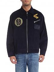 [관부가세포함][비비안웨스트우드 앵글로매니아] Factory jacket in corduroy blue (28010001-11093 K401)