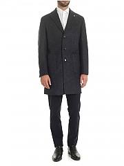 [관부가세포함][루비암1911] Dandy coat in blue and black herringbone (7451 95196/5)