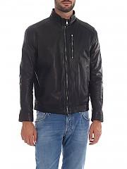 [관부가세포함][Volfagli] Tognazzi 남성 레더 재킷 in black leather (TOGNAZZI TEXAS NERO)