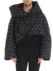 [관부가세포함][비비안웨스트우드 앵글로매니아] FW19 남성 Propaganda 다운 재킷 in black (13030004-11184 N301.)