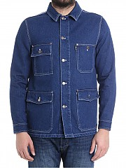 [관부가세포함][아미] Blue denim jacket (E18D407.620 408)