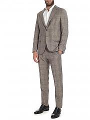 [관부가세포함][카루소] Brown checked pattern wool suit (AS1JM303F 502273 0560)