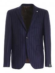 [관부가세포함][브란도] FW20 남성 striped pattern single-breasted suit (3630 03126/3)