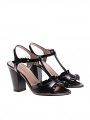 [관부가세포함][마리아크리스티나] Black ankle-strap sandals (4935-0)