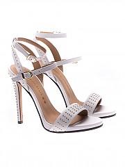 [관부가세포함][마크엘리스] White leather studded sandals (MA3018 BIANCA)
