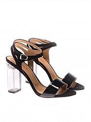 [관부가세포함][마크엘리스] Suede and patent leather sandals (MA3041 NERO)