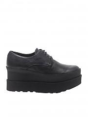 [관부가세포함][팔로미타스 바이 팔라로마 바르셀로] Black leather wedge Derby shoes (M131-BIL BLACK)
