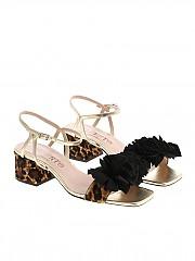 [관부가세포함][Alberto Gozzi] Golden sandals with fringes (BLAN-218CAV)