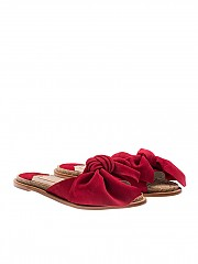 [관부가세포함][팔로마바르셀로] Red Geranium sandals with knot (CA04 PASION GERANIO)
