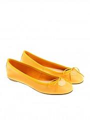 [관부가세포함][ANNA BAIGUERA] Yellow ballerinas with bow (P36154)