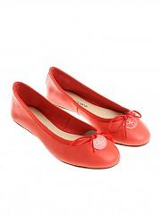 [관부가세포함][ANNA BAIGUERA] Coral red ballerinas with bow (P36153)