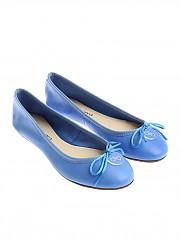 [관부가세포함][ANNA BAIGUERA] Light-blue ballerinas with bow (P36155)