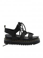 [관부가세포함][닥터마틴] Black leather Nartilla Hydro sandals (24641001)