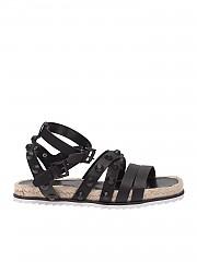[관부가세포함][켄달카일리] Bianca sandals in black leather with studs (BIANCA BLKLE-BLACK TENDRE)