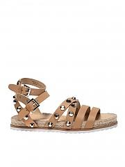 [관부가세포함][켄달카일리] Bianca sandals in beige leather with studs (BIANCA LNALE-FAWN 10 TENDRE)