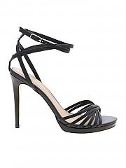[관부가세포함][게스] Tonya sandals in black leather (FL6TNYLEA03 BLACK)