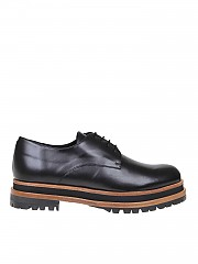 [관부가세포함][팔로마바르셀로] Dagny Derby shoes in black leather (DAGNY BLACK)