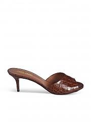 [관부가세포함][PARIS TEXAS] FW20 여성 crocodile effect leather 샌들 (PX506-XCAG2 MARRONE)