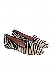 [관부가세포함][프리티발레리나] Black and white striped ballerinas (42.165 2901 JUNGLA NUBE)