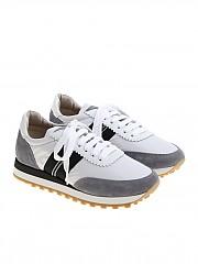 [관부가세포함][브루넬로 쿠치넬리] White and gray fabric sneakers (MZ30G1174 CR788)