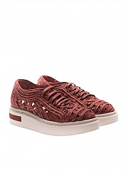 [관부가세포함][Manuel Barcelo] Copper red Lane woven sneakers (LA10 TEJA LANE)