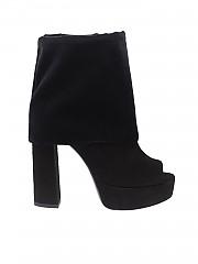 [관부가세포함][마크엘리스] Open-toe black suede boots (MA4045 NERO)