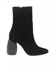 [관부가세포함][마크엘리스] Suede boots with studded heels (MA4058 NERO)