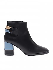 [관부가세포함][팔로마바르셀로] Black, light blue and beige ankle boots (P30-MED BLACK)