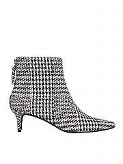 [관부가세포함][켄달카일리] Kara 여성 앵클 부츠 in black and white tartan (KARA BLACK WHITE)