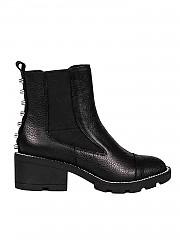 [관부가세포함][켄달카일리] FW19 여성 Port 앵클 부츠 in black leather (PORT BLACK NATURAL)