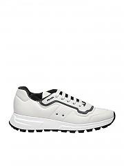[관부가세포함][프라다스포츠] White sneakers with gray edges (4E3382 1MNS F0Z6K)