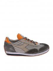 [관부가세포함][디아도라 헤리티지] Equipe H Dirty sneakers in vintage effect grey (201.174736 01 75018)