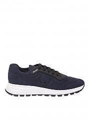 [관부가세포함][프라다스포츠] Nubuck leather sneakers in blue (4E3433 037 F0008)