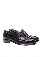 [관부가세포함][바렛] Black leather loafers (092U093.28 NERO)