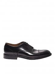 [관부가세포함][그린조지] Black brushed leather derby shoes (7084 POLISHED 00)