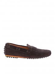 [관부가세포함][카슈] Loafers in brown suede with neon detail (KUD643 XTY F0192)