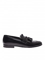 [관부가세포함][바렛] Loafers in black suede (191U062.4 NERO)
