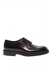 [관부가세포함][듀칼스] FW19 남성 더비슈즈 in black brushed leather (DU1385BRUGUF160TL01)
