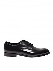 [관부가세포함][듀칼스] SS20 남성 더비 슈즈 in black brushed leather (DU1003RENNUF028NN00)