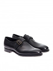 [관부가세포함][에드워드 그린] Single Strap Shoes (TROON F606 BLACK CALF)
