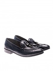 [관부가세포함][라파로] Blue loafers with metal insert (E8024GYR)