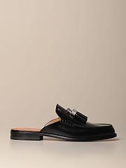 [관부가세포함][크리스찬루부탱] (3200496 BK01)  Winter 20 남성 rivaslide  loafer in leather with tassels