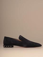[관부가세포함][크리스찬루부탱] (3200538 U086)  Winter 20 남성  moccasin in suede with spikes heel
