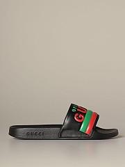 [관부가세포함][구찌] (632183 DIR00 1000)  Winter 20 남성  pursuit original rubber sandal