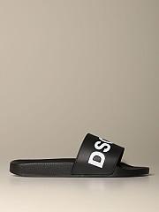 [관부가세포함][디스퀘어드2] (FFM0101 17200001 M063)  Winter 20 남성  rubber sandal with logo print