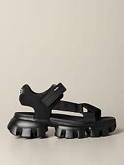 [관부가세포함][프라다] (2X3056 3L6W F0002)  Summer 20 남성  thunder sandal in canvas and rubber with logo